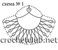 схема шали из ракушек 1