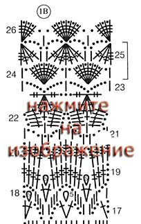 схема юбки 1В