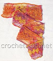 шарф на вилке мастер-класс