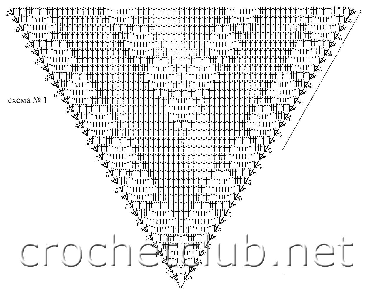 Ответ: схема вязания шалей крючком из мохера.