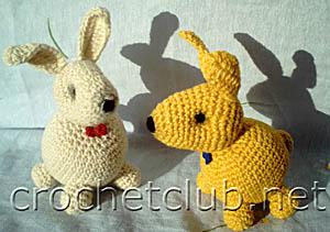 новогодние игрушки-кролики