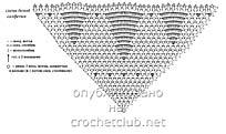 схема белой салфетки с елочками