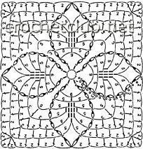 схема квадрата для пуловера