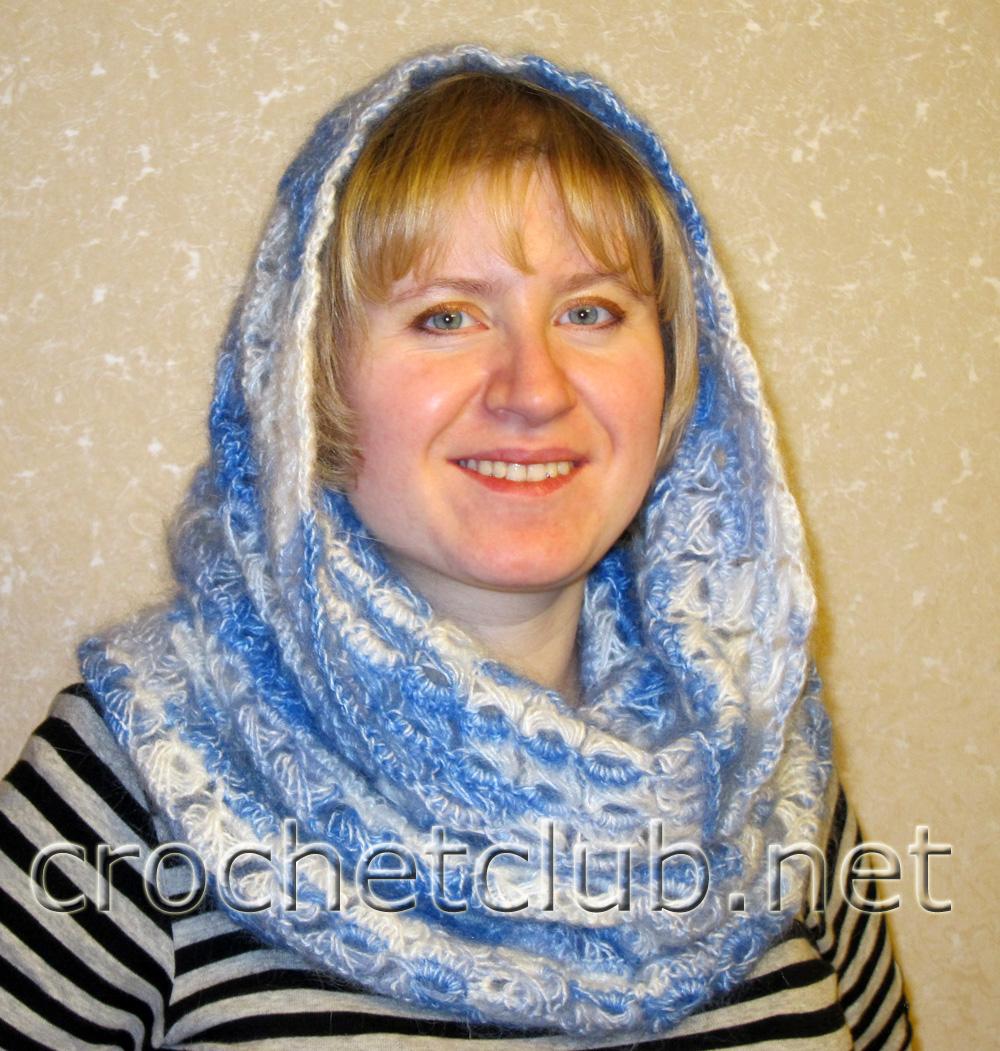 схема вязки женского шарфа