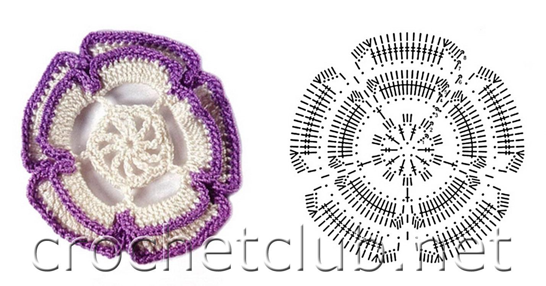 схема узоров ирландского кружева цветочки