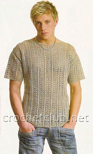 мужская футболка из льна