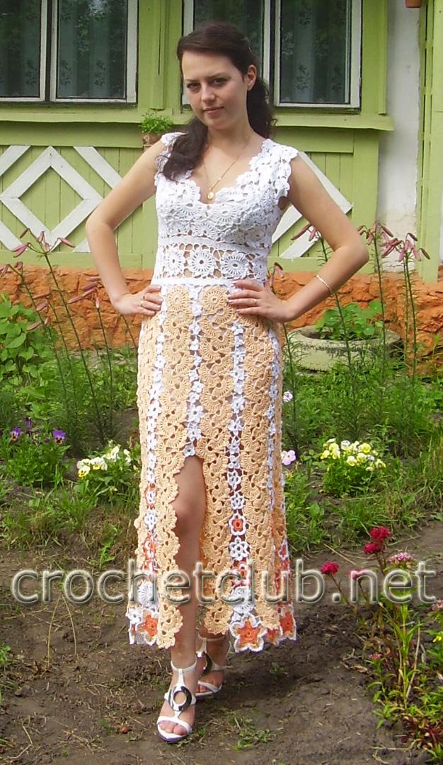 Эффектное платье связала