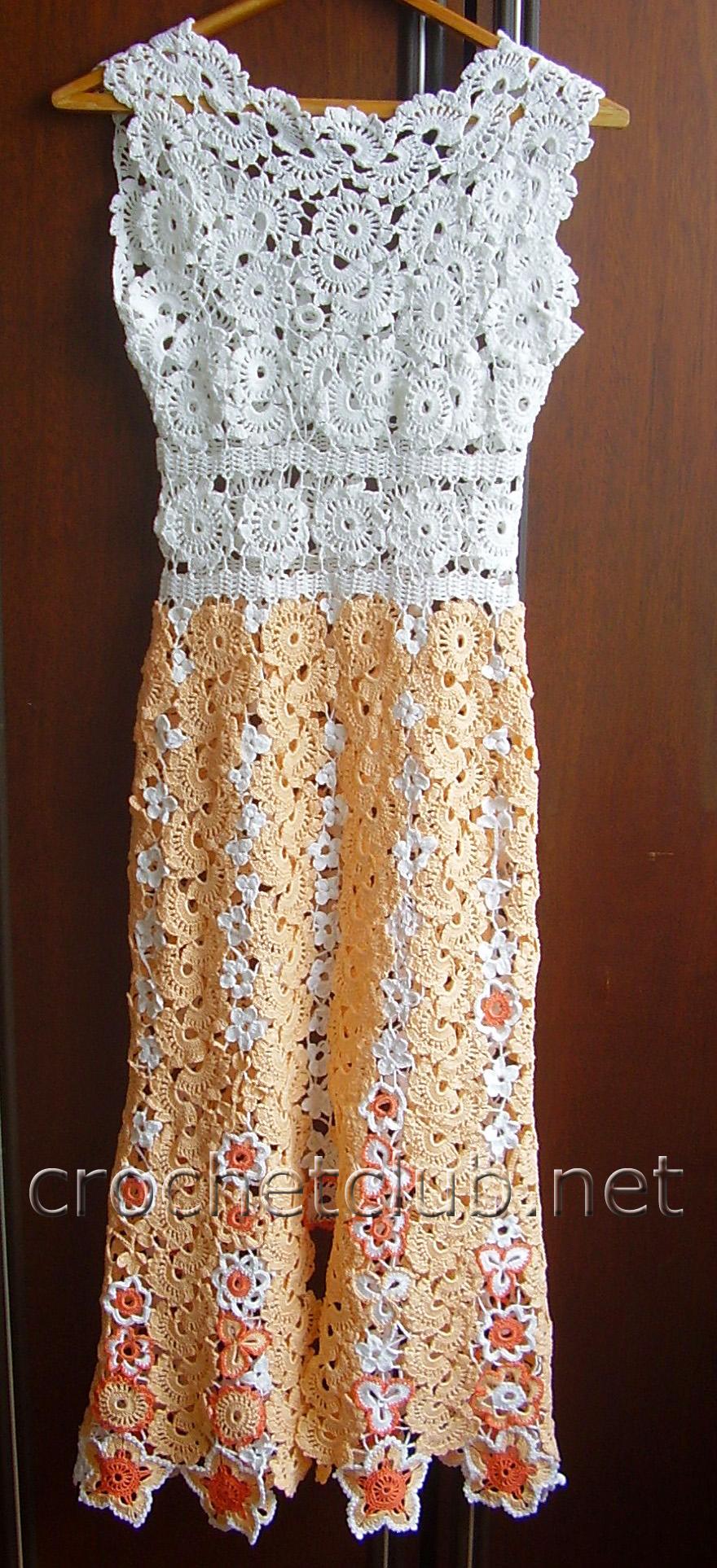 Платье для малышки крючком схема фото 736