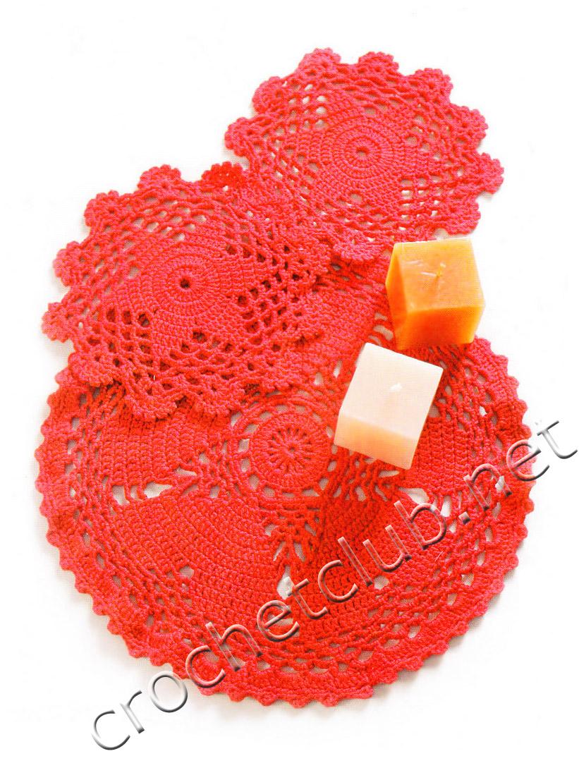 Схемы маленьких салфеток для вязания крючком