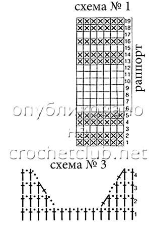 схемы филейного узора 1 и 3