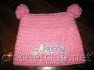 шапочка для девочки 1-1,5 года