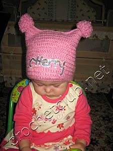 шапочка для девочки 1-1,5 года_2