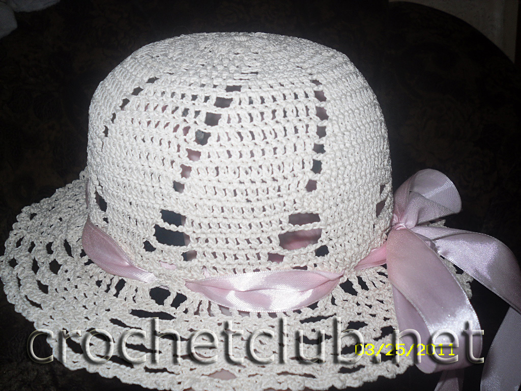 Схема вязания детской шляпки крючком Вяжем малышам различные уникальные красивые вещиСхема вязания детской шляпки...