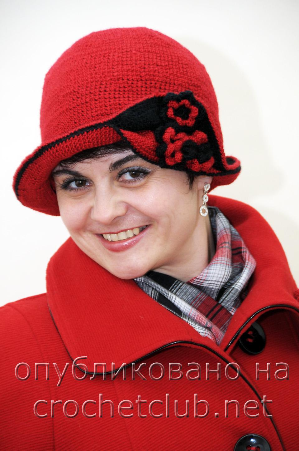 элегантная шляпка связанная крючком вязание крючком блог настика
