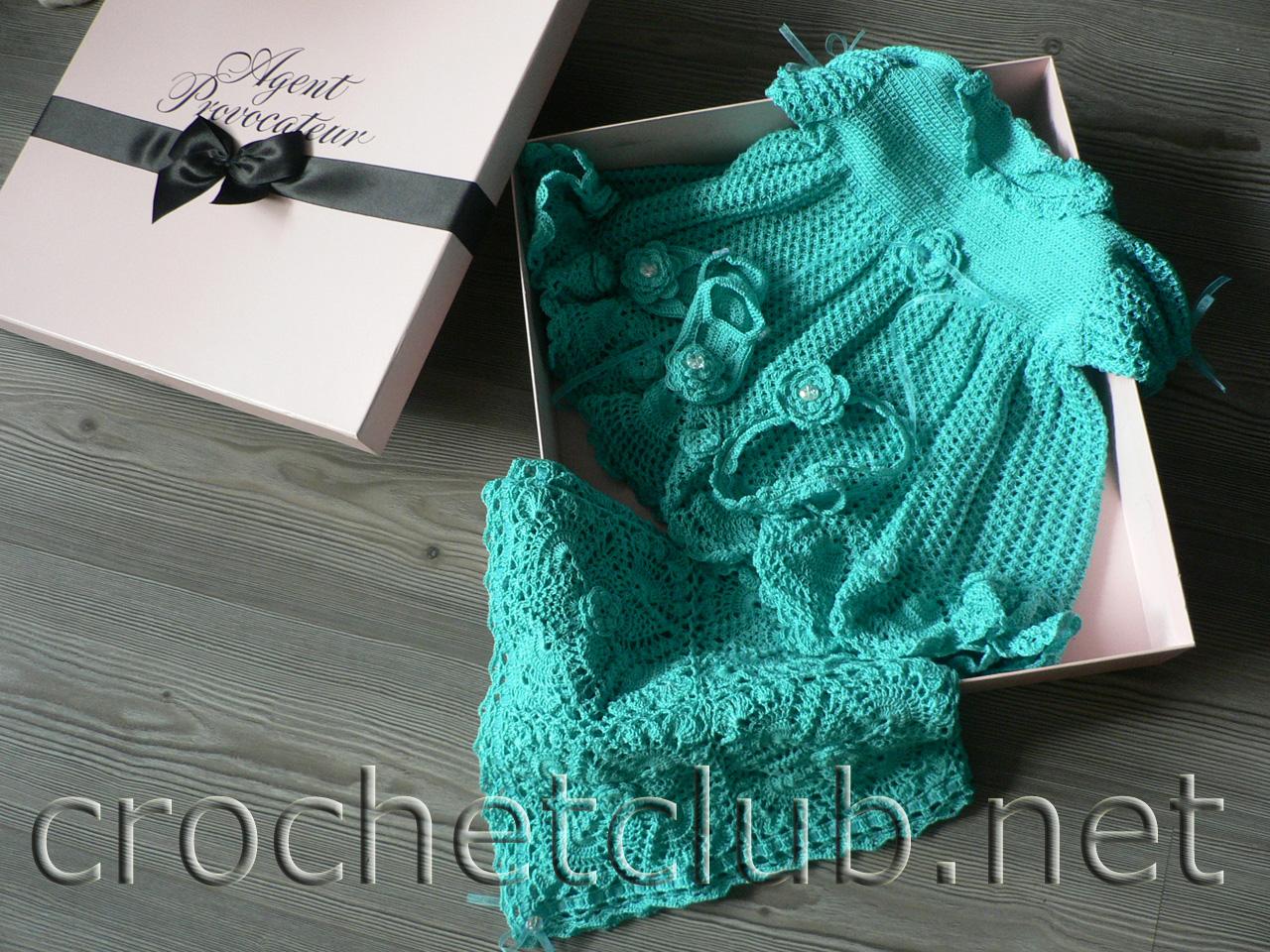 схема вязания костюмчика для новорожденной девочки