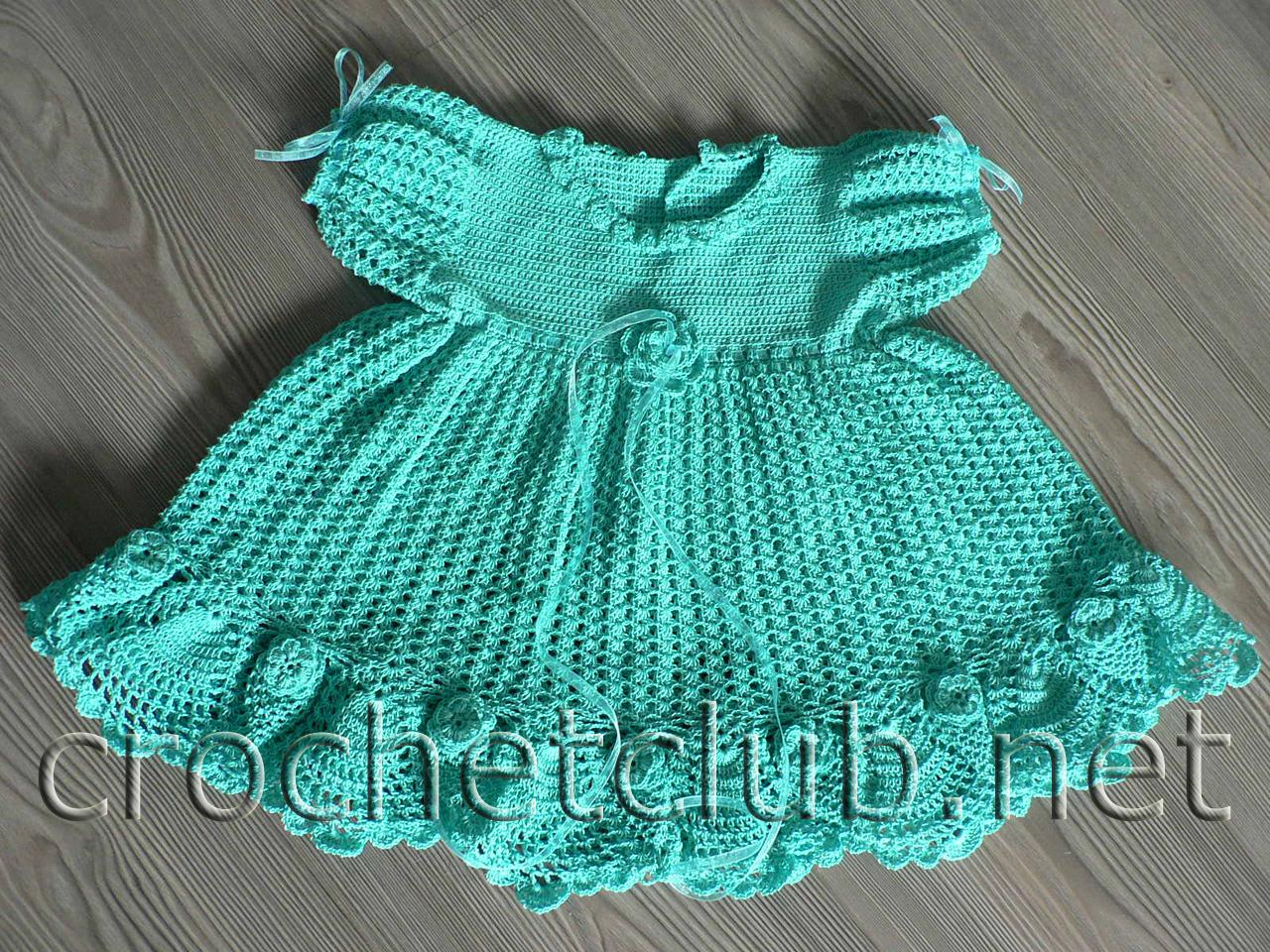 Вязание для новорожденных девочек платье