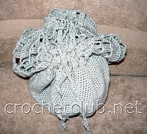 серебряная вечерняя сумочка