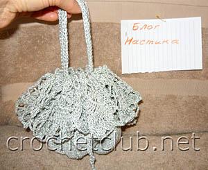 серебряная вечерняя сумочка 2