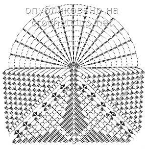 схема салфетки с веерами