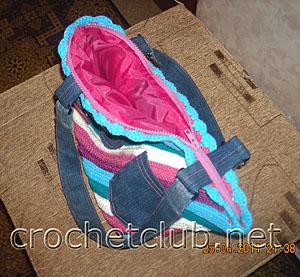 вязаная сумка молодежная 2