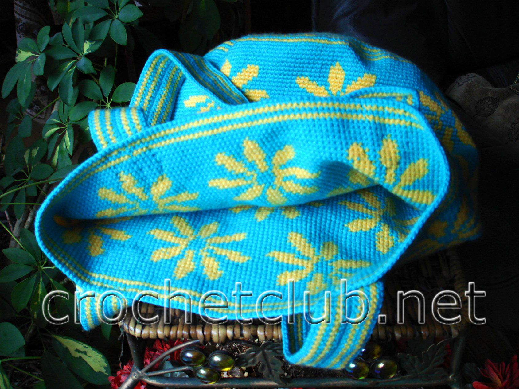 Схемы вязания крючком мочалки
