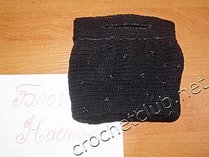 черная сумка с бусинами