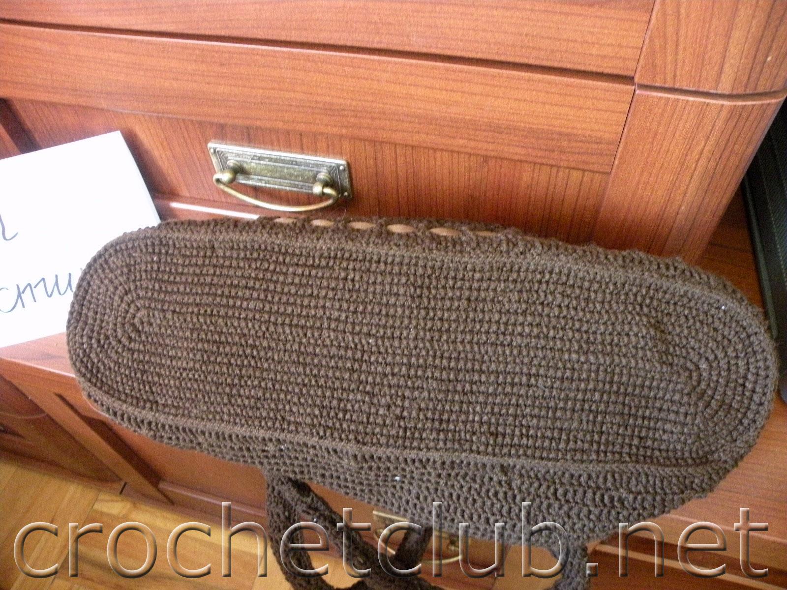 99e2f1150435 Вязаная сумка «Шоколадные цветы» - Вязание Крючком. Блог Настика