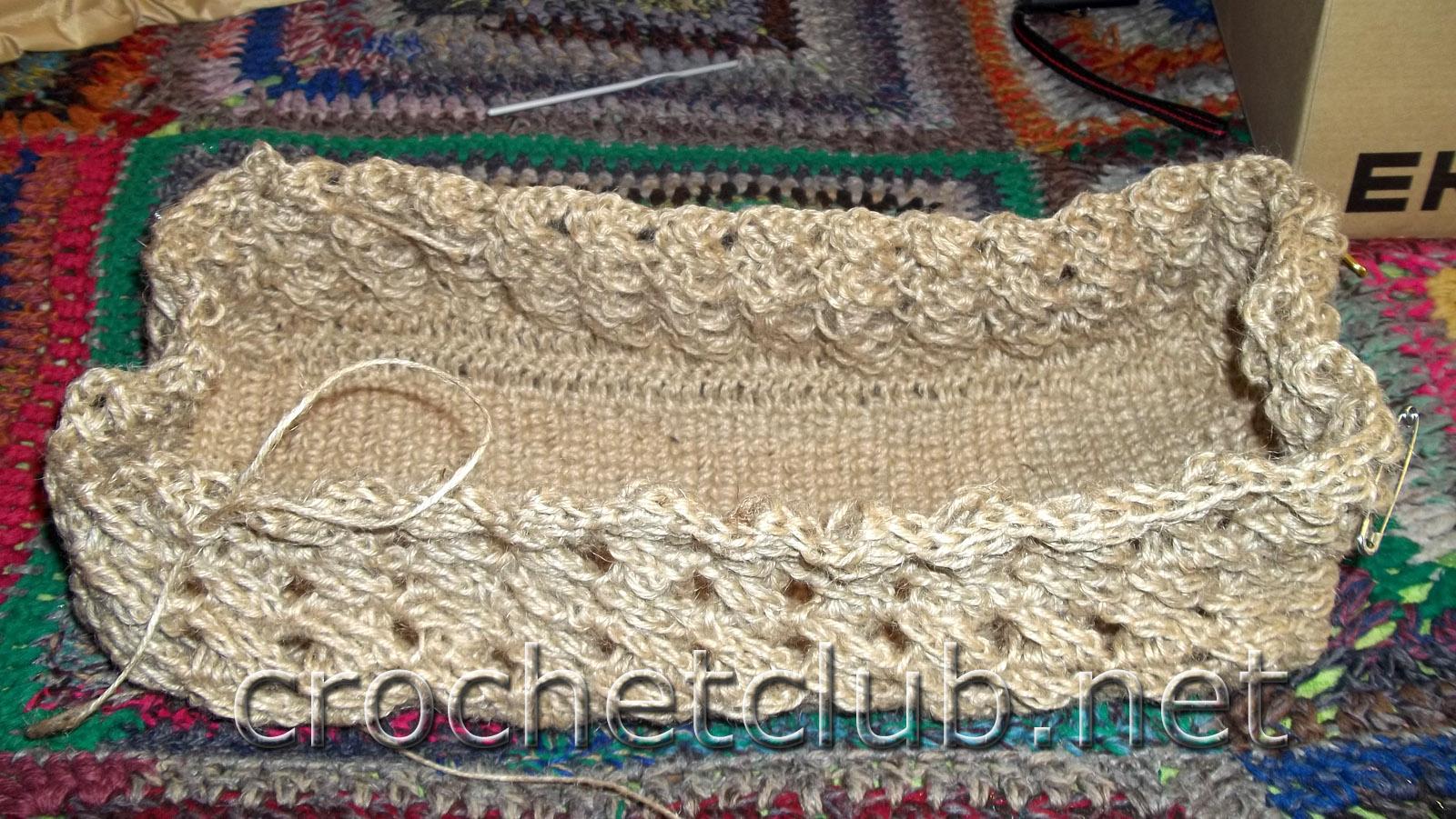 Вязание шпагатом сумки