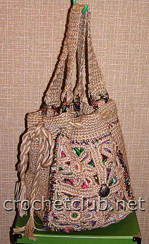 модная вязаная сумочка 2
