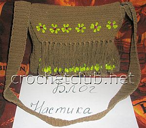 пляжная коричневая сумочка