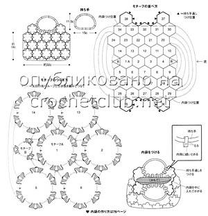 схема сумки из цветочных мотивов 2