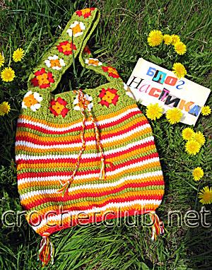сумка цветочная