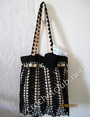 сумочка черный ажур 1