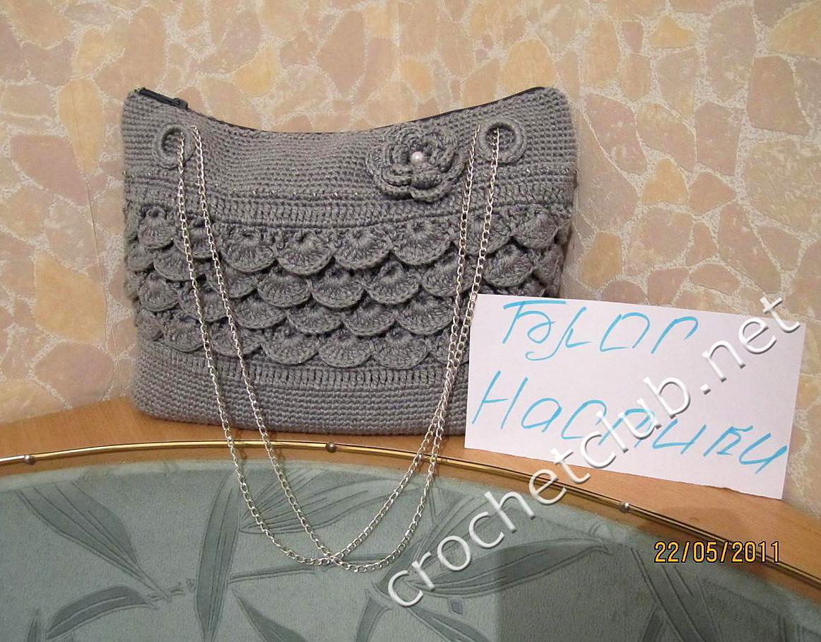 сумочка связанная из ленточной пряжи вязание крючком блог настика
