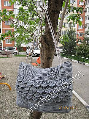 сумочка из ленточной пряжи 1