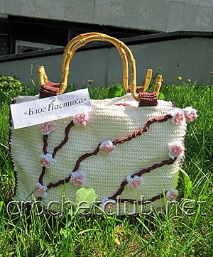 сумочка ветка сакуры