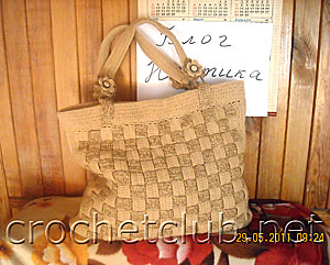 вязаная сумка плетенка