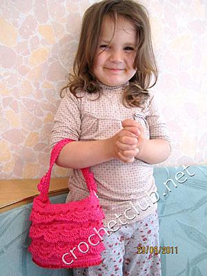 вязаная сумочка кокетка 1