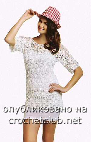 белая ажурная футболка