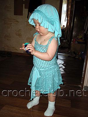 бирюзовый сарафан для малышки