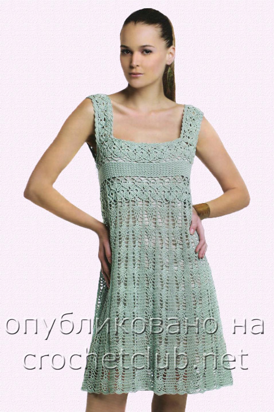 Вязание сарафанов и платьев 104