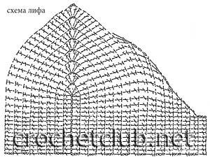 схема лифа к сарафану