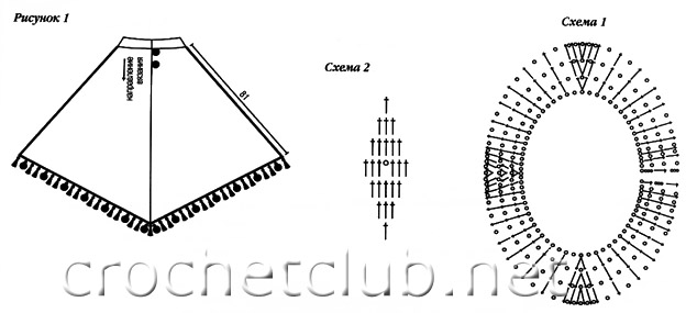 Вязание крючком рачий ход