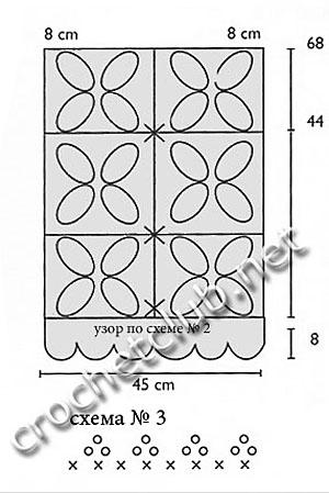 схема туники из квадратов 3