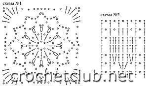 схемы розового топа 1 и 2