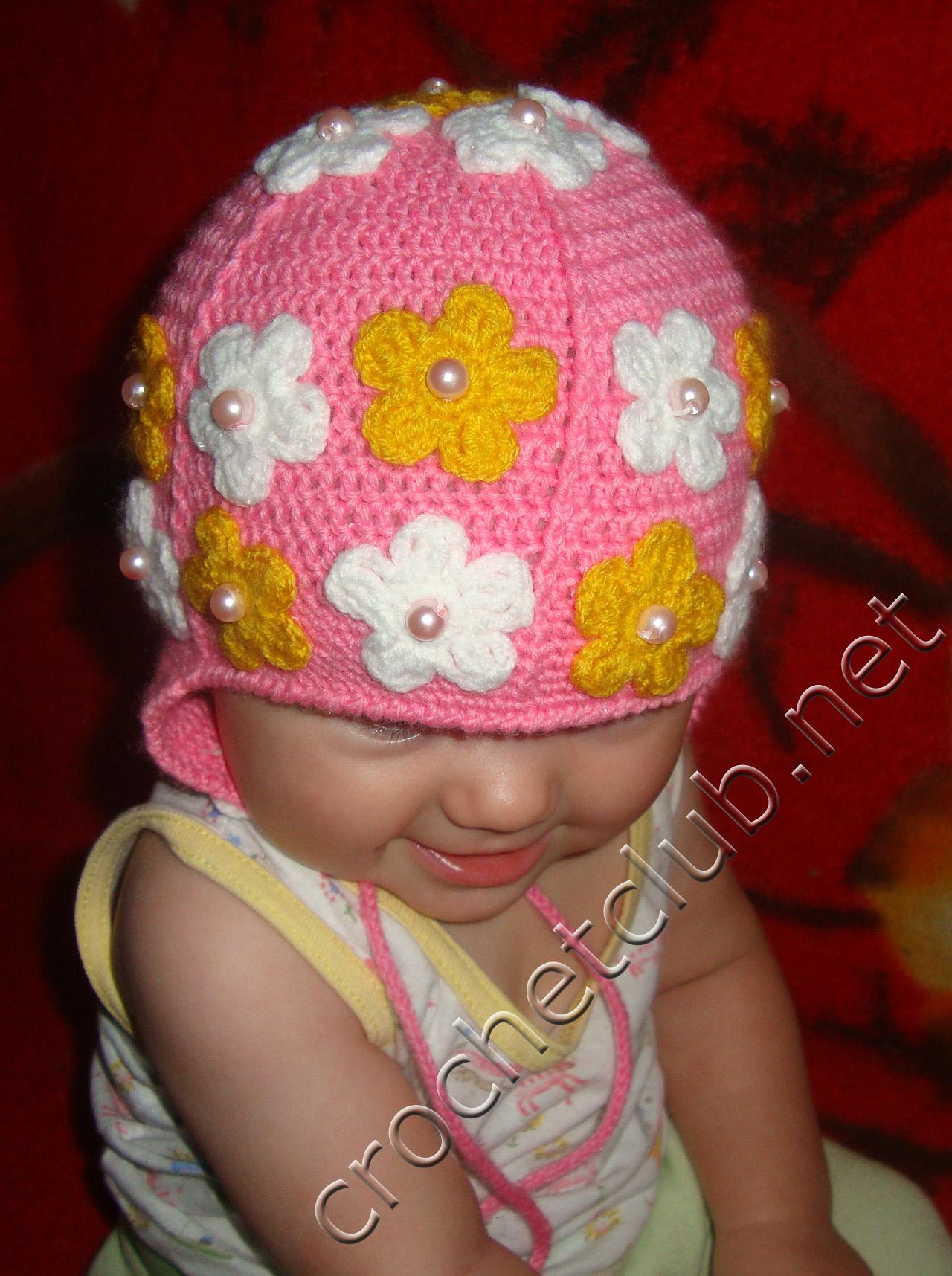 выбрать лучший вязание крючком шапочки для девочек на осень фото находился