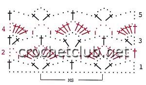 схема узора для маечки