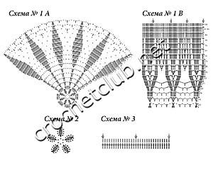 схемы вязаного летнего берета