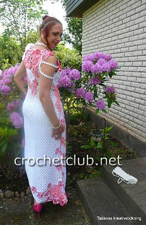 вечернее платье крючком 2