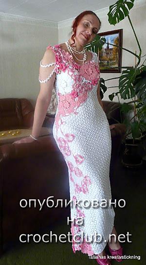 вечернее платье крючком 3
